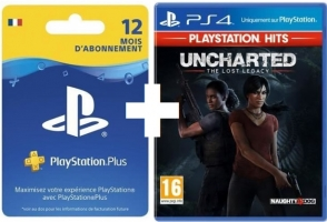 Abonnement PlayStation Plus de 12 Mois + Uncharted : The Lost Legacy - PlayStation Hits