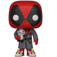 Figurine Funko Pop Deadpool en robe de chambre