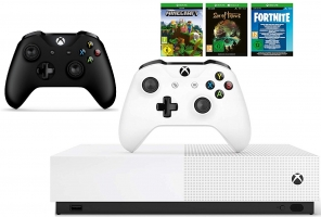 Console Xbox One S All Digital - 1To + 2ème Manette (Noire) + Sea of Thieves + Minecraft + Fortnite Legendary Evolving Skin & 2000 V-Bucks