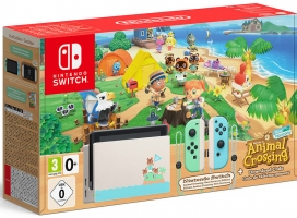 Console Nintendo Switch - Edition Animal Crossing + Le Jeu Animal Crossing New Horizons
