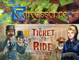 Carcassone + Ticket To Ride