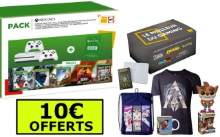 Console Xbox One S - 1To + 2ème Manette + Gears 5 + Star Wars Jedi Fallen Order - Edition Deluxe + Forza Horizon 4 + Red Dead Redemption 2 + GTA V + 3 Mois Xbox Live + Box Gaming + 10€ Offerts