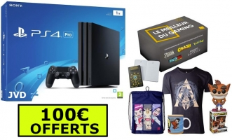 Console PS4 Pro - 1To + Box Gaming + 100€ Offerts