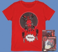 Lot Deadpool : T-Shirt + Dessous de verre lenticulaire