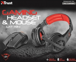 Trust Gaming GXT 784 : Casque + Souris Gamer
