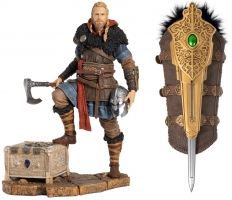 (Optimisation) Figurine Assassin's Creed Valhalla - Eivor l'Ami des Loups (25cm) + Lame Secrète d'Eivor (37cm)