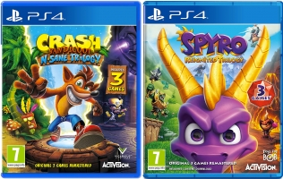 Crash Bandicoot N.Sane Trilogy ou Spyro Reignited Trilogy