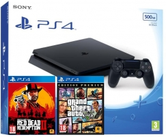 Console PS4 - 500Go + Red Dead Redemption 2 + GTA V - Edition Premium