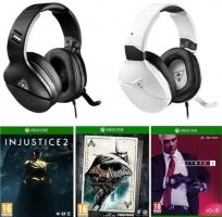 Micro-Casque Turtle Beach - Recon 200 (Noir ou Blanc) + Injustice 2 + Batman Return to Arkham + Hitman 2