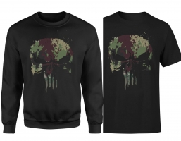 Lot The Punisher : Pull Camo + T-Shirt (Homme/Femme)