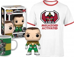 Lot Power Rangers : T-Shirt + Tasse + Funko Pop