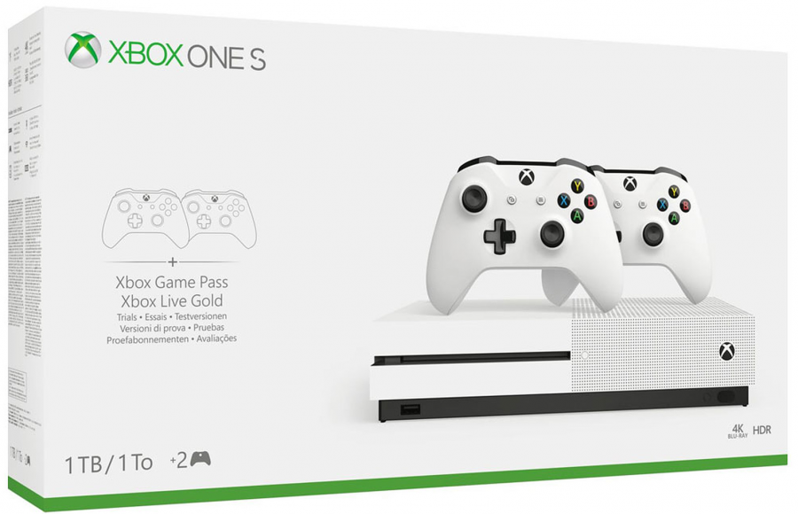 Console Xbox One S - 1 To + 2e manette